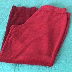 Velour pant with flare legs